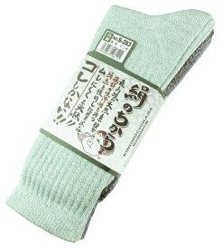 おたふく手袋 OTAFUKU GLOVE 絹のちから モク柄先丸靴下 3足組