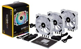 CORSAIR コルセア LL120 RGB White Triple Fan Kit (CO-9050092-WW) CO-9050092-WW[CO9050092WW]