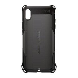 エレコム ELECOM iPhone XS Max 6.5インチ用 ZEROSHOCK スタンダード PM-A18DZEROBK