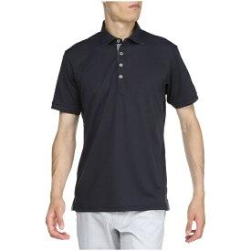 ミズノ mizuno メンズ ゴルフウエア 半袖シャツ ハイドロ銀チタン半袖シャツ シャツ衿(XLサイズ/ディープネイビー)52MA902014
