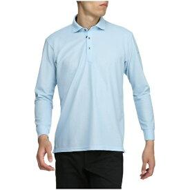 ミズノ mizuno メンズ ゴルフ ウエア 長袖シャツ シャツ衿(Mサイズ/クールブルー)52MA9A3019