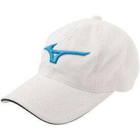 ミズノ mizuno メンズ ゴルフキャップ ハイドロ銀チタンキャップ(メンズフリー:56〜60cm/ホワイト×ブルー)52JW900371