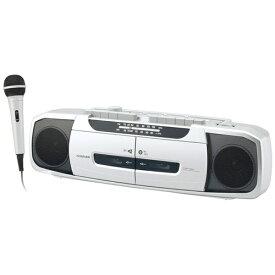コイズミ KOIZUMI SAD-1233/S ラジカセ シルバー [ワイドFM対応][SAD1233S]