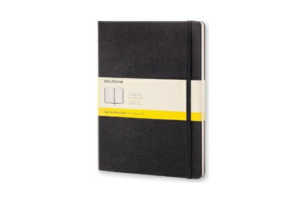 MOLESKINE クラシック ノートブック ハードカバー スクエアード(方眼) ブラック XL