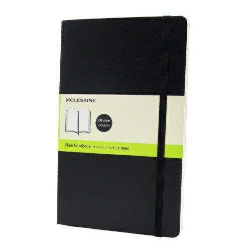 MOLESKINE クラシック ノートブック ソフトカバー プレーン(無地) ブラック Large