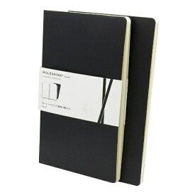 MOLESKINE ヴォラン ノートブック2冊セット ソフトカバー プレーン(無地) BK Large