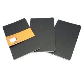 MOLESKINE カイエ ジャーナル3冊セット カードボード ルールド(横罫) ブラック Large