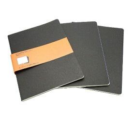 MOLESKINE カイエ ジャーナル3冊セット カードボード ルールド(横罫) ブラック XL