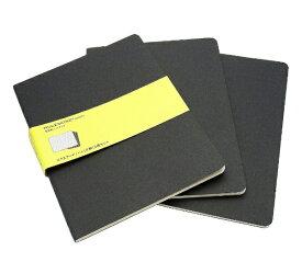 MOLESKINE カイエ ジャーナル3冊セット カードボード スクエアード(方眼) ブラック XL