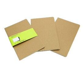 MOLESKINE カイエ ジャーナル3冊セット カードボード プレーン(無地) クラフト Large