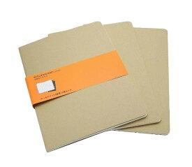 MOLESKINE カイエ ジャーナル3冊セット カードボード ルールド(横罫) クラフト XL