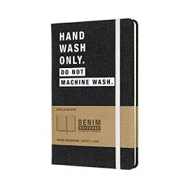 MOLESKINE デニム素材の限定版ノートブックLargeルールド(横罫)HAND WASH