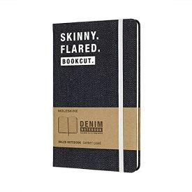 MOLESKINE モレスキン デニム素材の限定版ノートブックLargeルールド(横罫)SKINNY