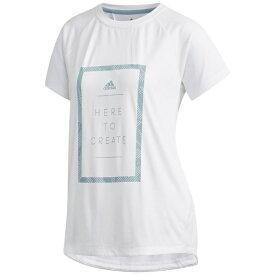 アディダス adidas トレーニングウェア M4T メッセージプリントTシャツ レディース Sサイズ (ホワイト) FTF46