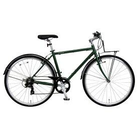 MARUKIN マルキン 【ビックカメラグループオリジナル】700×28C型 自転車 オネストワンAL-A(マットグリーン/7段変速) PB-19-038【組立商品につき返品不可】【point_rb】 【代金引換配送不可】