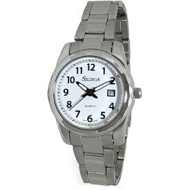 クレファー CREPHA 日本製メタルバンド腕時計 セルディカ 婦人用 SD-AL048-WTS