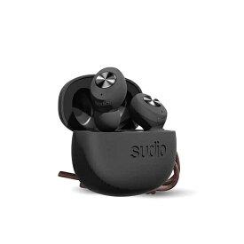 SUDIO スーディオ フルワイヤレスイヤホン SUDIO(スーディオ) ブラック TOLV-BK [リモコン・マイク対応 /ワイヤレス(左右分離) /Bluetooth][TOLVBK]