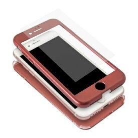 OWLTECH オウルテック iPhone8/7対応 360度フルカバーケース 液晶保護ガラス付き OWL-CVIA4719-RE レッド