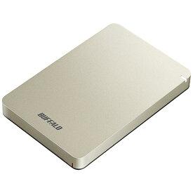 BUFFALO バッファロー HD-PGF1.0U3-GLA 外付けHDD ゴールド [ポータブル型 /1TB][HDPGF1.0U3GLA]