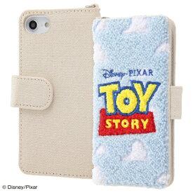 イングレム Ingrem iPhone SE(第2世代)4.7インチ/ iPhone 8/7/6s/6 『ディズニー・ピクサーキャラクター』/サガラ刺繍 手帳型ケース 帆布/『トイ・ストーリー/ロゴ』 IS-DP7S6SGR1/TY ロゴ