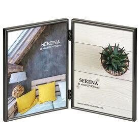 ハクバ HAKUBA メタルフォトフレーム SERENA(セレーナ)01 2Lサイズ 2面(タテ・タテ) ブラック FSR01-BK2L2T ブラック
