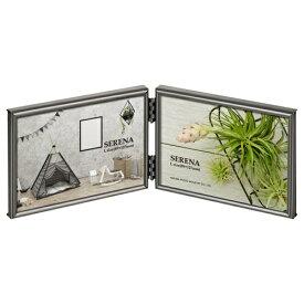 ハクバ HAKUBA メタルフォトフレーム SERENA(セレーナ)01 Lサイズ 2面(ヨコ・ヨコ) ブラック FSR01-BKL2Y ブラック