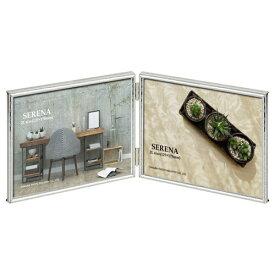 ハクバ HAKUBA メタルフォトフレーム SERENA(セレーナ)02 2Lサイズ 2面(ヨコ・ヨコ) FSR02-SV2L2Y シルバー