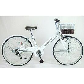 サイモト自転車 SAIMOTO 24型 自転車 ダカラットアンジュ(ホワイト/外装6段変速)JRL-W246BA-HD-BAA-A【組立商品につき返品不可】 【代金引換配送不可】