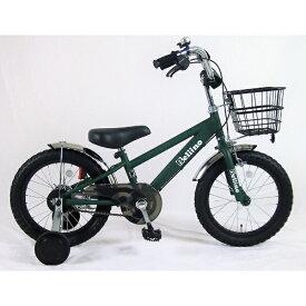 サイモト自転車 SAIMOTO 16型 子供用自転車 ベリーノ(マットカーキ/シングルシフト)KDーB16BK-BMXーA【組立商品につき返品不可】 【代金引換配送不可】