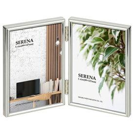 ハクバ HAKUBA メタルフォトフレーム SERENA(セレーナ)01 Lサイズ 2面(タテ・タテ) シルバー FSR01-SVL2T シルバー