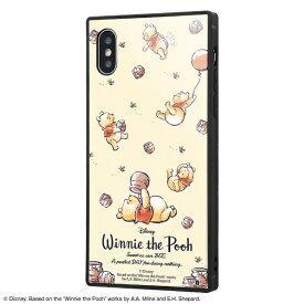 イングレム Ingrem iPhone XS / X /『ディズニーキャラクター』/耐衝撃ガラスケース KAKU IQ-DP20K1B/PO003 『くまのプーさん/Perfect Day』