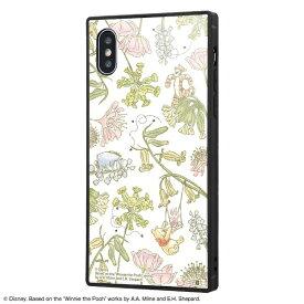 イングレム Ingrem iPhone XS / X /『ディズニーキャラクター』/耐衝撃ガラスケース KAKU IQ-DP20K1B/PO008 『くまのプーさん/ナチュラル』