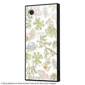 イングレム Ingrem AQUOS sense2 / Android One S5 /『ディズニーキャラクター』/耐衝撃ガラスケース KAKU IQ-DAQSE2K1B/PO008 『くまのプーさん/ナチュラル』