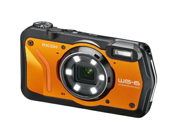 リコー RICOH WG-6 コンパクトデジタルカメラ オレンジ [防水+防塵+耐衝撃][WG6OR]
