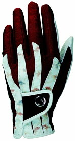 キャスコ 【レディース 左手用】ゴルフグローブ 艶グローブ(18.0〜21.0cm/金魚×エンジ) SF-1918L