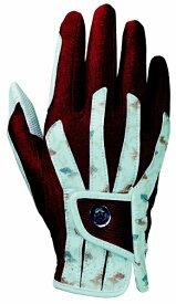 キャスコ 【レディース 右手用】ゴルフグローブ 艶グローブ(18.0〜21.0cm/金魚×エンジ) SF-1918LR