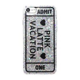 エムディーシー MDC iPhone8/7[ADMIT ONE] / ラメシリコンケース md-74231SLV シルバー