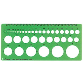 シンワ測定 Shinwa Rules シンワ測定 テンプレート円定規TB-1中 A764-66004