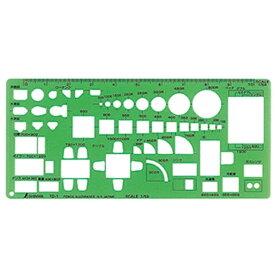 シンワ測定 Shinwa Rules シンワ測定 テンプレート記号定規TD1家具定規大 A764-66007