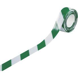 日本緑十字 JAPAN GREEN CROSS 緑十字 高耐久ラインテープ 白/緑 50mm幅×10m 両端テーパー構造 屋内用 403079