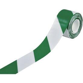 日本緑十字 JAPAN GREEN CROSS 緑十字 高耐久ラインテープ 白/緑 100mm幅×10m 両端テーパー構造 403089