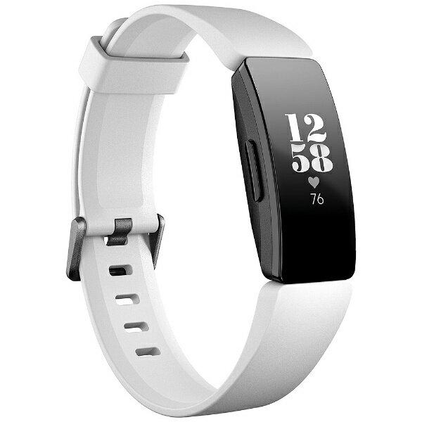 Fitbit フィットビット Fitbit フィットネストラッカー Inspire HR White/Black L/Sサイズ FB413BKWT-FRCJK ホワイト/ブラック[FB413BKWTFRCJK]