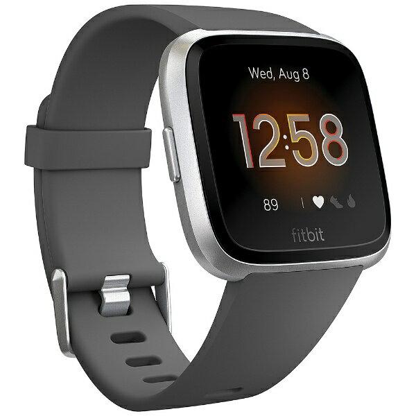 Fitbit フィットビット Fitbit フィットネススマートウォッチ Versa ライトエディション Charcoal/Silver Alminum L/Sサイズ FB415SRGY-FRCJK チャコール/シルバーアルミニウム [さまざまな文字盤を選択可能:1200種類以上のデザインで文字盤をカスタマイズできます。][