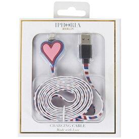 IPHORIA USBライトニングケーブル Heart Red Rosa