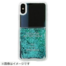 IPHORIA アイフォリア iPhone XS Max TPUケース Nail Polish Turquoise
