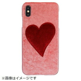 IPHORIA アイフォリア iPhone XS Max PUケース Pink With Red Heart