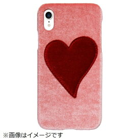 IPHORIA アイフォリア iPhone XR PUケース Pink With Red Heart