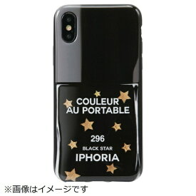 IPHORIA アイフォリア iPhone X/XS TPUケース Nailpolish Black Star