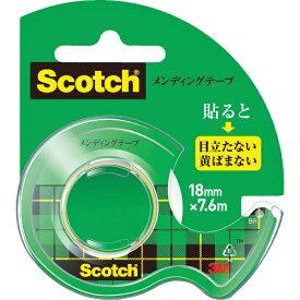 3Mジャパン スリーエムジャパン 3M メンディングテープ 18mmX7.6m ディスペンサー付 CM-18