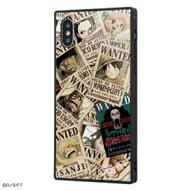 イングレム Ingrem iPhone XS / X /ワンピース/耐衝撃ガラスケース KAKU IQ-OP20K1B/OP001 手配書
